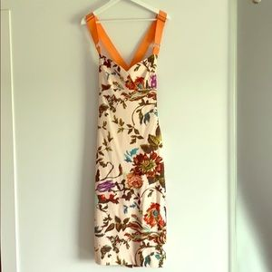 Ted Baker floral ribbon strap dress